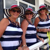 Pease sisters, who won best yachting attire