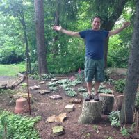 Mike Bulgini is responsible for the design and creating the garden