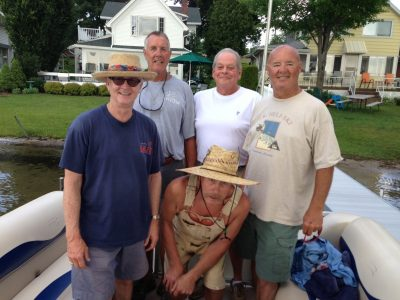The crew poses for glamour shot (left to right) Bill Tuttle, Joe Rumler, Mike Beebe, Mike Hendges and Jim Bretes (crouching)