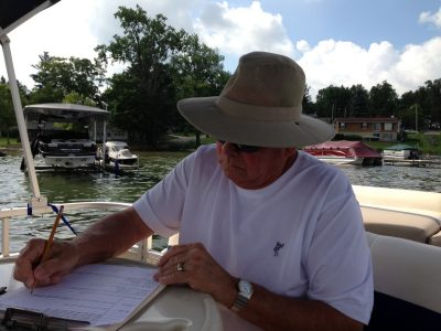 Bill Beebe performing the duties of scribe