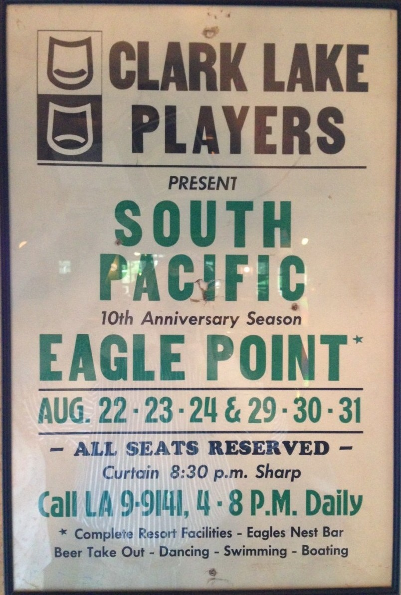 The Clark Lake Players performed South Pacific during the summer of 1963