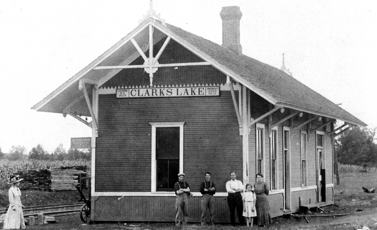 The depot at the end of Vining Street probably appeared to the Graziani family as in this undated photo.