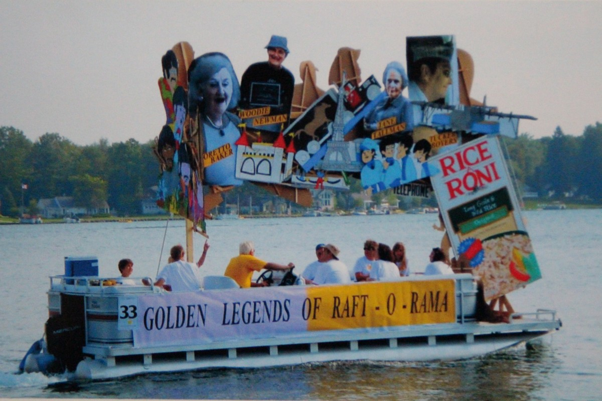 "The Svinicki entry ""Legends of Raft-O-Rama"" before meeting with an unfortunate gust of wind."