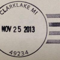 Clarklake postmark