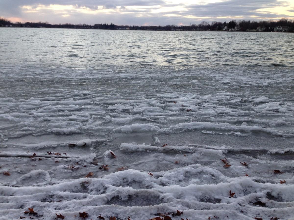 First Clark Lake ice November 24, 2013