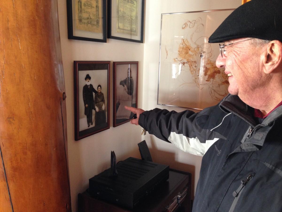 Bob LaZebnik in his Clark Lake home