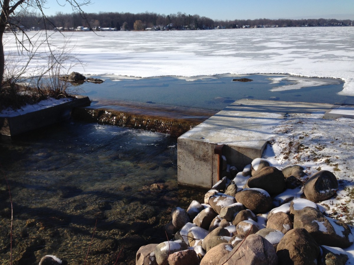 Clark Lake on Christmas Eve morning