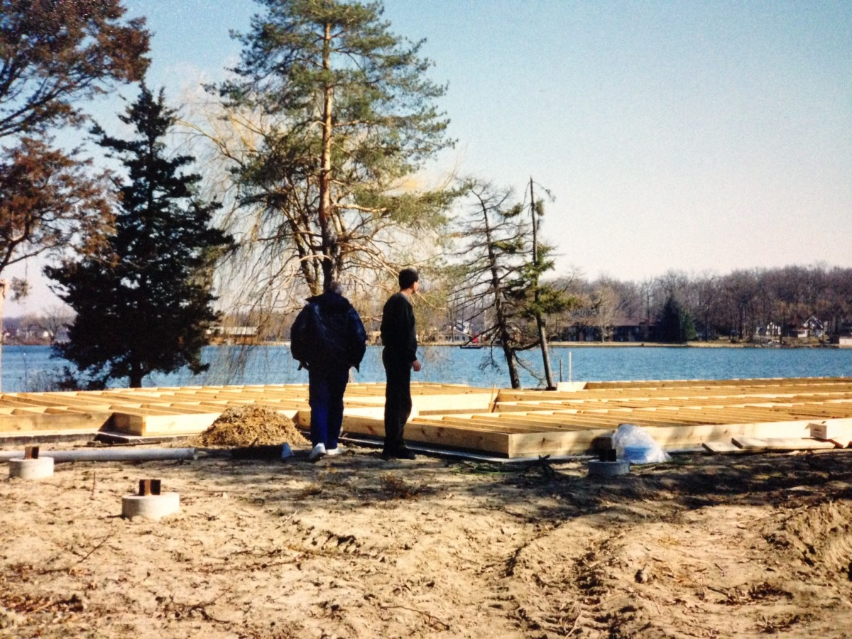 View of Kentucky Point after the cottage was moved to the County Park and before construction of the new home