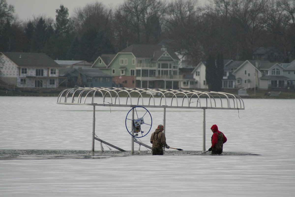 Chopping the ice