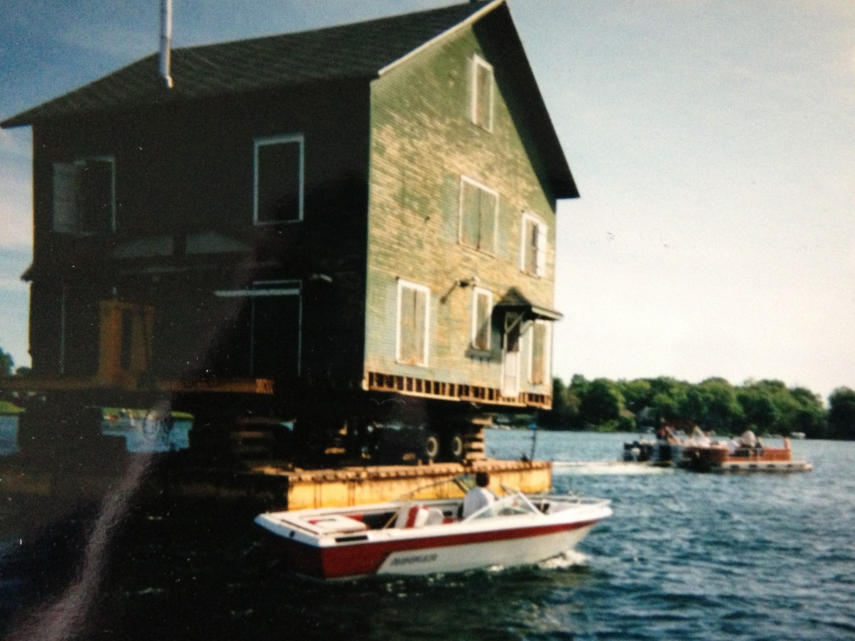 The Graziani main cottage was floated to the County Park at the east end of the lake, and there it became the Clark Lake Community Center.