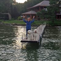 Laurie on dock