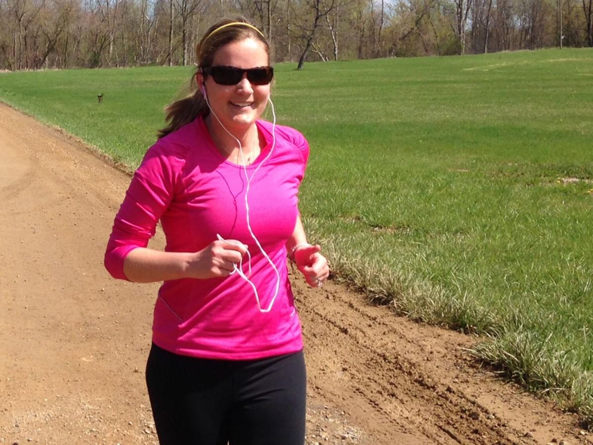 Ashley Zuzelski on the York Dr. area of the Trail