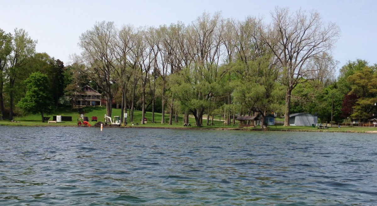 View of County Park from the lake last week