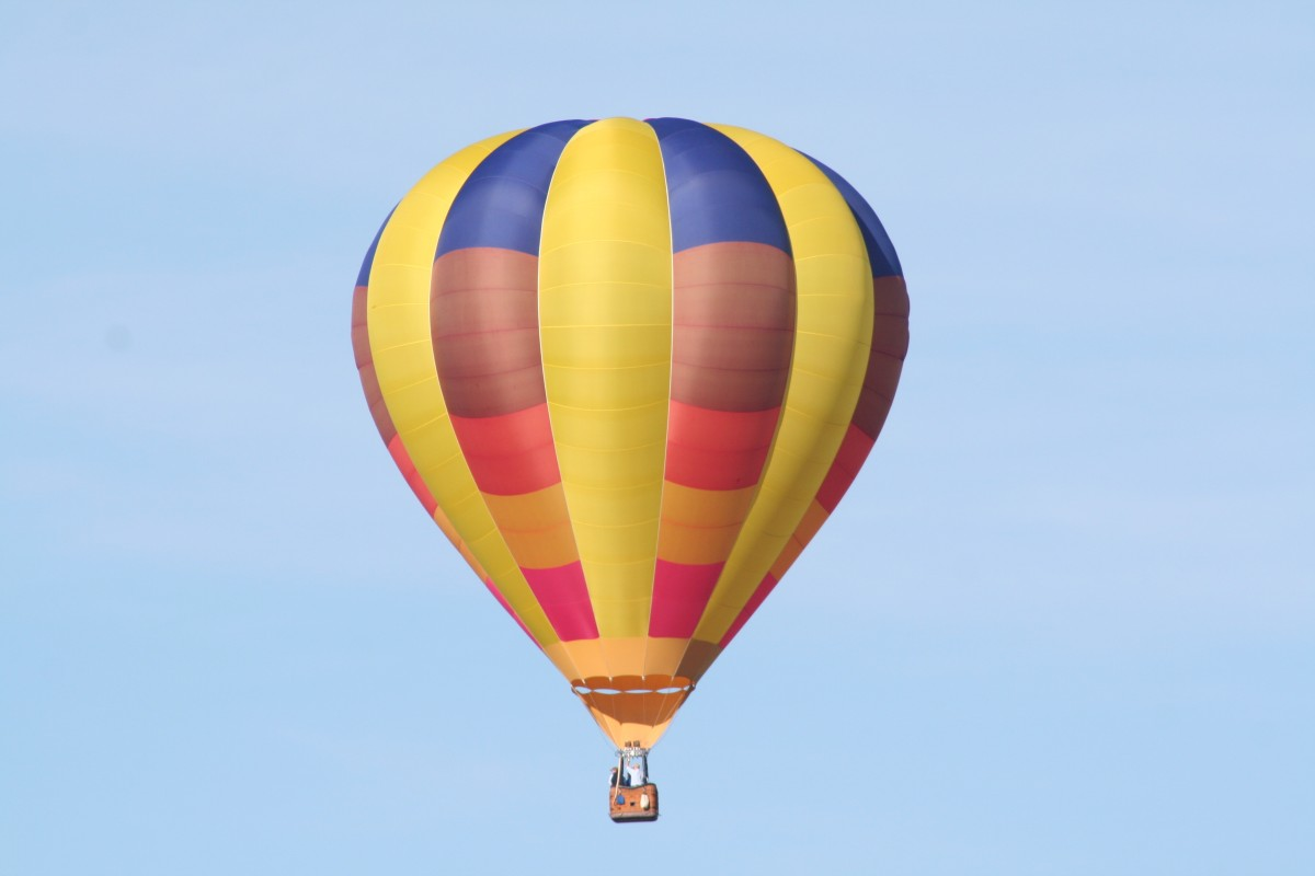 Close up view of the balloon using a 300mm telephoto
