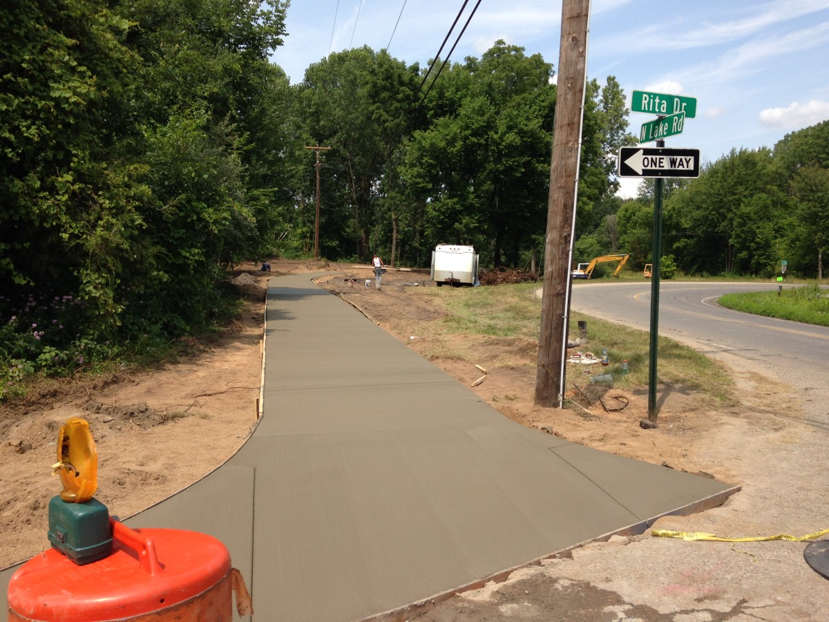 Trail extension paved