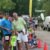 Race Director Pat Dwyer (bullhorn)