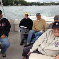 Ron June (owner of raft), Bill Tuttle, Vic Marshall, Bill Leutz, Hugh Harris