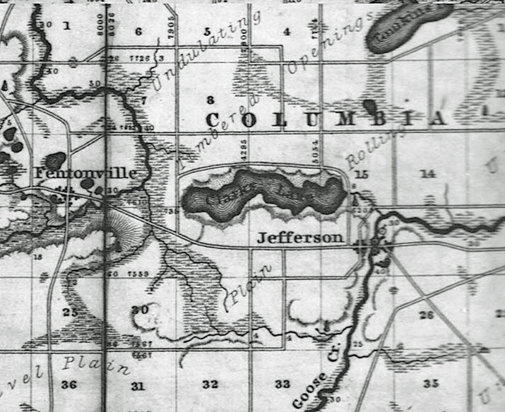Early Clark Lake map