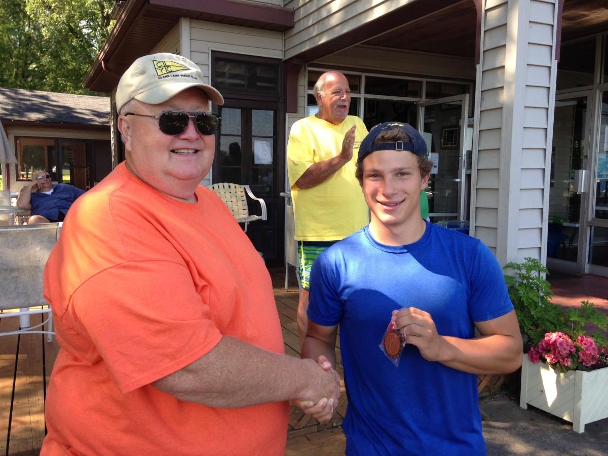 adult kayak winner Justin Lowery