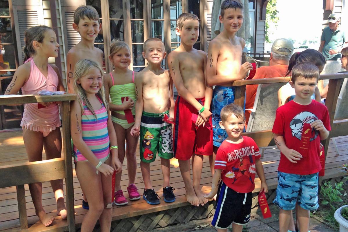 kids triathlon group