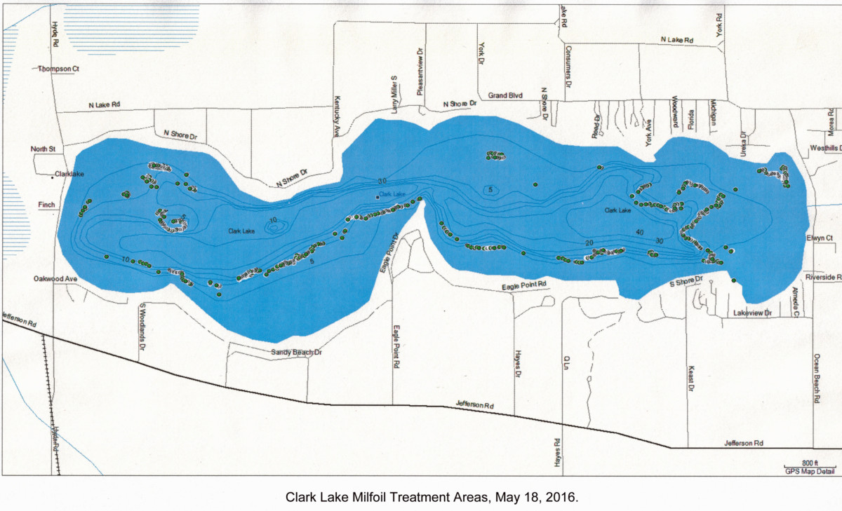 Clark Lake Treatment Areas May 2016 05-16
