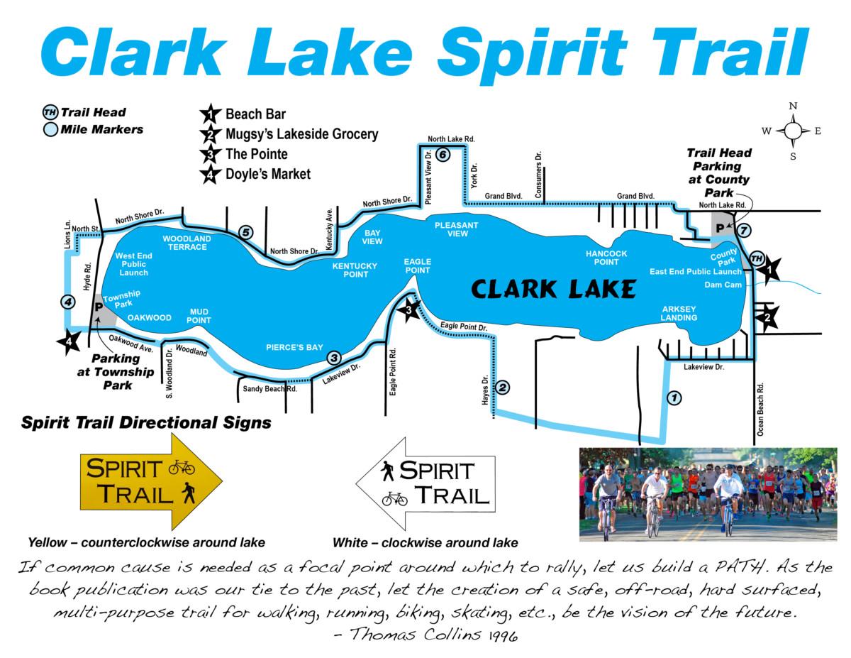 Clark Lake Michigan Map.Spirit Trail Clark Lake Spirit Foundation