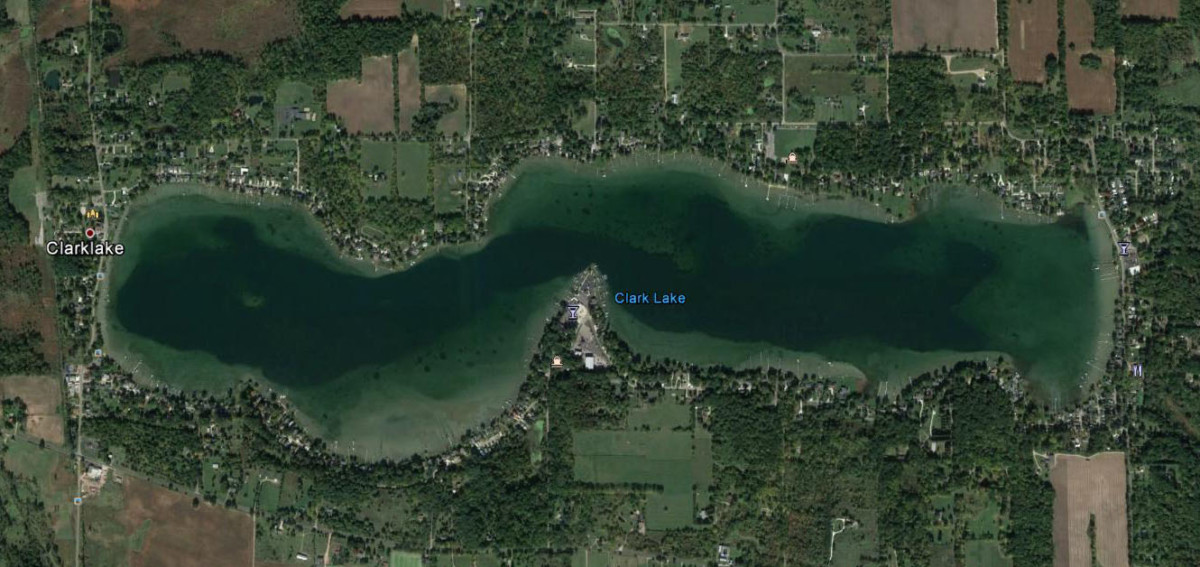 Clark Lake from a Satellite - Clark Lake Spirit Foundation