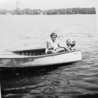 Carolyn Zader with brother 1952