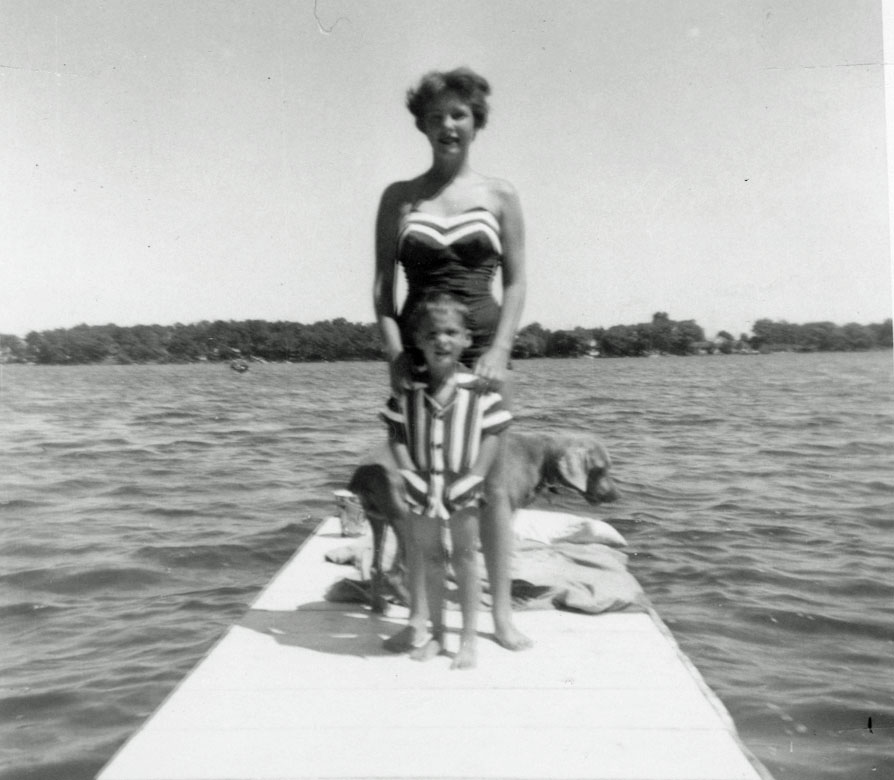 Carolyn Zader with brother 1953